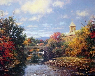 Autumn Sunrise- Signed By The Artist – CanvasLithograph  – Limited Edition  – 250S/N  –  16x20