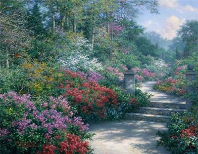 Azalea Path – Impressions Of Biltmore- Signed By The Artist								 – Paper Lithograph – Limited Edition – 1200 S/N – 11 x 14