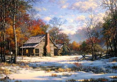 Early Snow- Signed By The Artist – PaperLithograph – Limited Edition – 1000S/N – 18x25