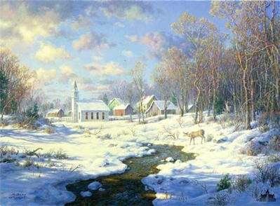 Frosty Morning- Signed By The Artist – PaperLithograph – Limited Edition – 1000S/N – 18 1/2x25 1/2