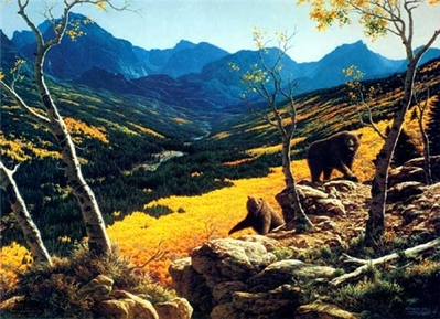 Golden Vista- Signed By The Artist – PaperLithograph – Limited Edition – 1600S/N – 16x21 1/4