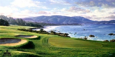 Pebble Beach- Signed By The Artist – PaperLithograph – Limited Edition – 1600S/N – 17x34