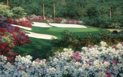 Springtime At Augusta's 13th- Signed By The Artist – PaperSerigraph – Limited Edition – 450S/N – 24 3/4x45