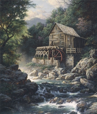 Stoney Creek Mill- Signed By The Artist – PaperLithograph – Limited Edition – 1000S/N – 25 3/4x22 –
