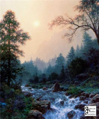 Through The Mist- Signed By The Artist – PaperLithograph – Limited Edition – 1000S/N – 23 3/4x19 3/4