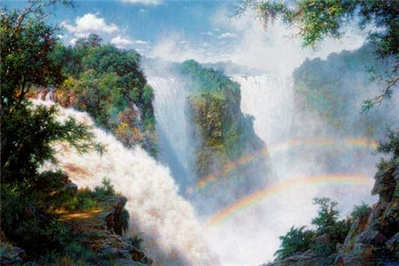 Valley Of The Mist – Victoria Falls- Signed By The Artist – PaperLithograph – Limited Edition – 1250S/N – 20x30
