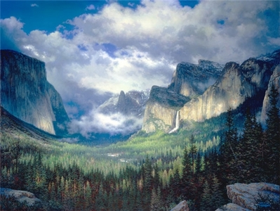 Yosemite Valley- Signed By The Artist – CanvasGiclee – Limited Edition – 1250S/N – 36x48