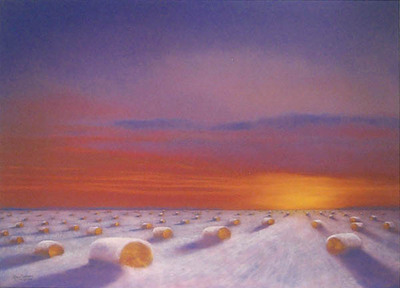 20th Century Hayfield- Signed By The Artist – PaperLithograph  – Limited Edition  – 650S/N  –  24x29 1/2