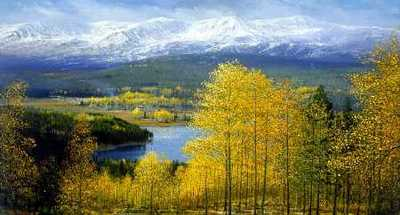 Colorado Gold- Signed By The Artist – CanvasGiclee  – Limited Edition  – 150S/N  –  30x54