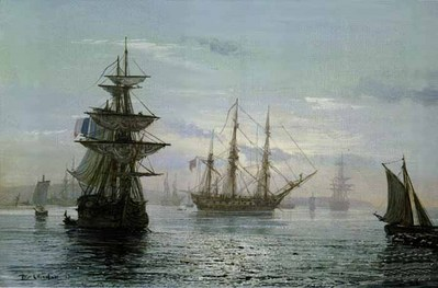 The Great Age Of Sail- Signed By The Artist – CanvasLithograph – Limited Edition – 180S/N – 24x36 –