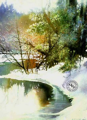 Bright River- Signed By The Artist								 – Paper Lithograph – Limited Edition – 950 S/N – 24 x 17 3/4