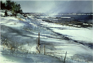 Edge Of Winter – Lake Superior- Signed By The Artist – PaperLithograph – Limited Edition – 950S/N – 18x27