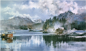Halibut Cove- Signed By The Artist – PaperLithograph – Limited Edition – 950S/N – 19x32