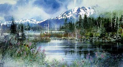 Wild River Moose- Signed By The Artist								 – Paper Giclee – Limited Edition – 300 S/N – 16 1/8 x 30