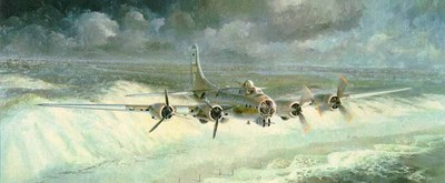 Little Willie Coming Home (B-17)- Signed By The Artist – PaperLithograph  – Limited Edition  – 1000S/N  –  14 1/4x34