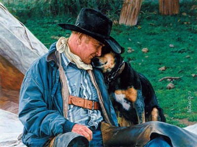 A Dog And His Cowboy- Signed By The Artist – CanvasGiclee – Limited Edition – 180S/N – 10x13