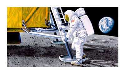 First Man On The Moon (Apollo 11)- Signed By The Artist – PaperGiclee – Limited Edition – 100S/N – 9x16