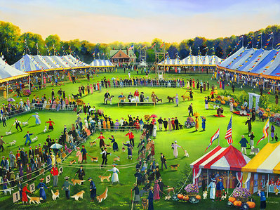 The Dog Show- Signed By The Artist – CanvasGiclee – Limited Edition – 150S/N – 18x24