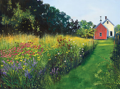 This Meadow Garden- Signed By The Artist – CanvasGiclee  – Limited Edition  – 75S/N  –  9x12