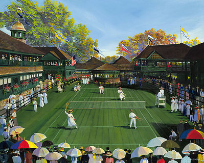Newport Tennis- Signed By The Artist – CanvasGiclee – Limited Edition – 100S/N – 16x20