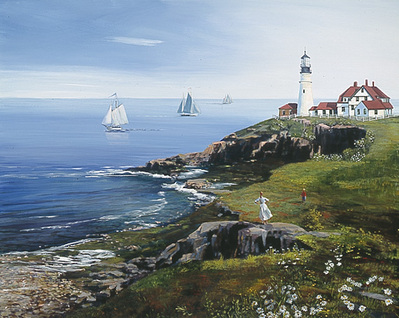 Portland Head Lighthouse- Signed By The Artist – CanvasGiclee – Limited Edition – 50S/N – 18x23
