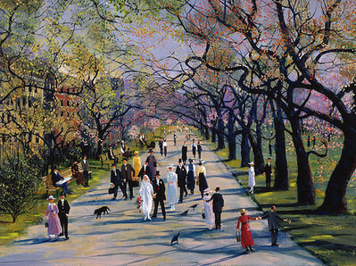 Spring In The Public Garden- Signed By The Artist – PaperLithograph  – Limited Edition  – 350S/N  –  15 1/4x20 3/4
