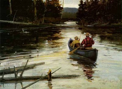 Slack Water Brookies- Signed By The Artist								 – Canvas Giclee – Limited Edition – 150 S/N – 16 3/4 x 22 –