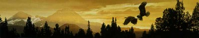 Cascade Skyline- Signed By The Artist – PaperLithograph  – Limited Edition  – 76A/P  –  6 3/4x32 1/2  –