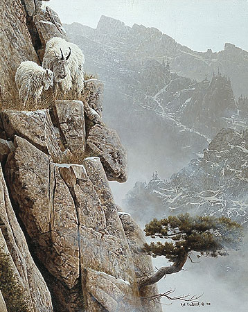 Misty Morning Lookout- Signed By The Artist – PaperLithograph – Limited Edition – 950S/N – 24x18 7/8 –