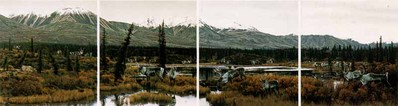 Way Of The Caribou (4-Piece Set)- Signed By The Artist – PaperLithograph – Limited Edition – 1000S/N – 13 1/2x41 1/4
