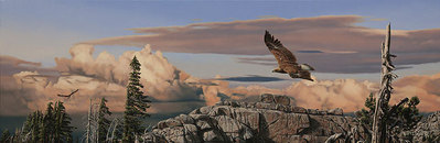 Wind Riders- Signed By The Artist – CanvasGiclee – Limited Edition – 75S/N – 10x30
