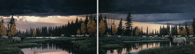 Before The Storm (2-Piece Set)- Signed By The Artist – CanvasGiclee  – Limited Edition  – 15A/P  –  18x32