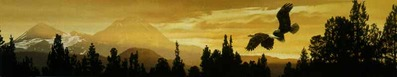 Cascade Skyline- Signed By The Artist – PaperLithograph  – Limited Edition  – 950S/N  –  6x32