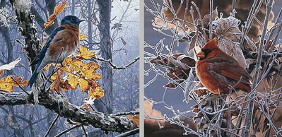 Fire And Ice (2-Piece Set)- Signed By The Artist – PaperLithograph – Limited Edition – 1750S/N – 8x8