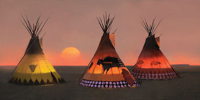 Indian Sunset II- Signed By The Artist – CanvasGiclee – Limited Edition – 55S/N – 17x34