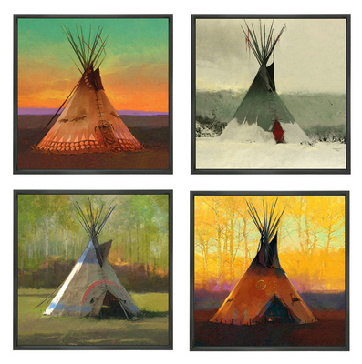 Saisons – Suite Of 4- Signed By The Artist								 – Canvas Giclee – Limited Edition – 75 S/N – 16 x 16