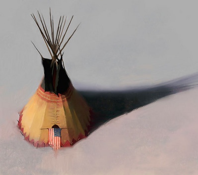 Teebow Tipi- Signed By The Artist								 – Canvas Giclee – Limited Edition – 125 S/N – 16 x 18