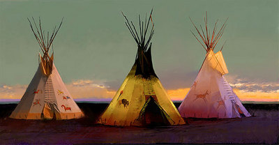 Tribal Tripartite- Signed By The Artist – CanvasGiclee – Limited Edition – 35S/N – 17x34 –