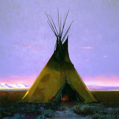 Where The West Begins- Signed By The Artist								 – Canvas Giclee – Limited Edition – 45 S/N – 24 x 24