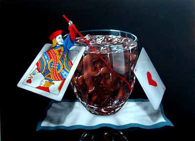 Black Jack And Coke- Signed By The Artist								 – Canvas Giclee – Limited Edition – 250 S/N – 28 x 37 1/2