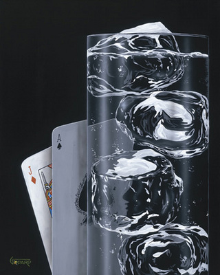 Black Jack And Spritzer- Signed By The Artist								 – Canvas Giclee – Limited Edition – 100 S/N – 22 x 17 1/2