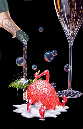Bubbly Bath- Signed By The Artist								 – Canvas Giclee – Limited Edition – 300 S/N – 40 1/2 x 24