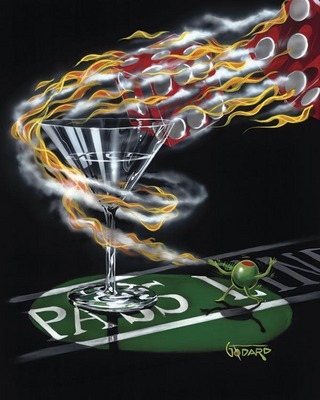 Burning It Up- Signed By The Artist								 – Canvas Giclee – Limited Edition – 995 S/N – 35 x 28