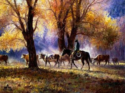 Autumn's Gather- Signed By The Artist – PaperLithograph  – Limited Edition  – 750S/N  –  22x28