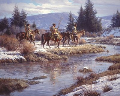 Blackfeet At Blacktail Ponds- Signed By The Artist – CanvasGiclee  – Limited Edition  – 25S/N  –  48x60