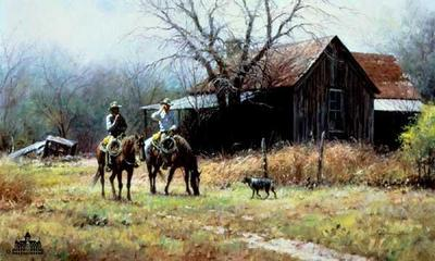 Brush Country Cowboys- Signed By The Artist – CanvasLithograph – Limited Edition – 395S/N – 20x30