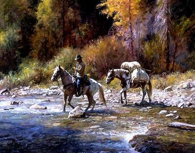 A Good Crossing- Signed By The Artist – CanvasLithograph – Limited Edition – 395S/N – 20x24