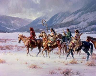 Winter Of The Apsaroke- Signed By The Artist – CanvasGiclee – Limited Edition – 95S/N – 32x40