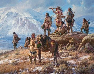 Apsaalooke Foot Soldiers- Signed By The Artist – CanvasGiclee  – Limited Edition  – 150S/N  –  32x40