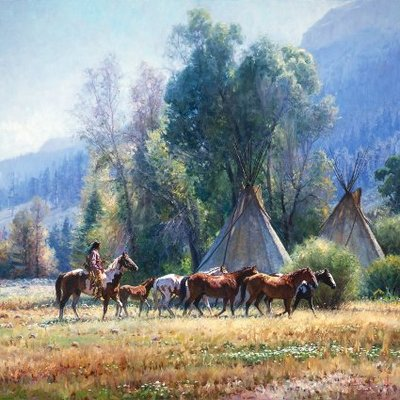 Back From The River- Signed By The Artist – CanvasGiclee  – Limited Edition  – 35S/N  –  48x48